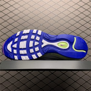 Men's/Women's 2020 Nike Air Max 97 Easter White-Game Royal-Volt