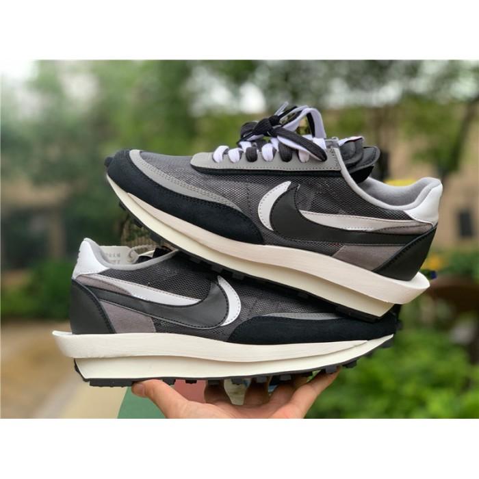 Men's/Women's Buy Nike LD Waffle Sacai Black White Shoes