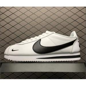 Men's/Women's Nike Classic Cortez Premium Mini Swoosh White Black