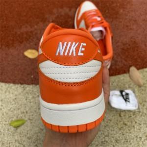 Men's/Women's Nike Dunk Low Syracuse White-Orange Blaze