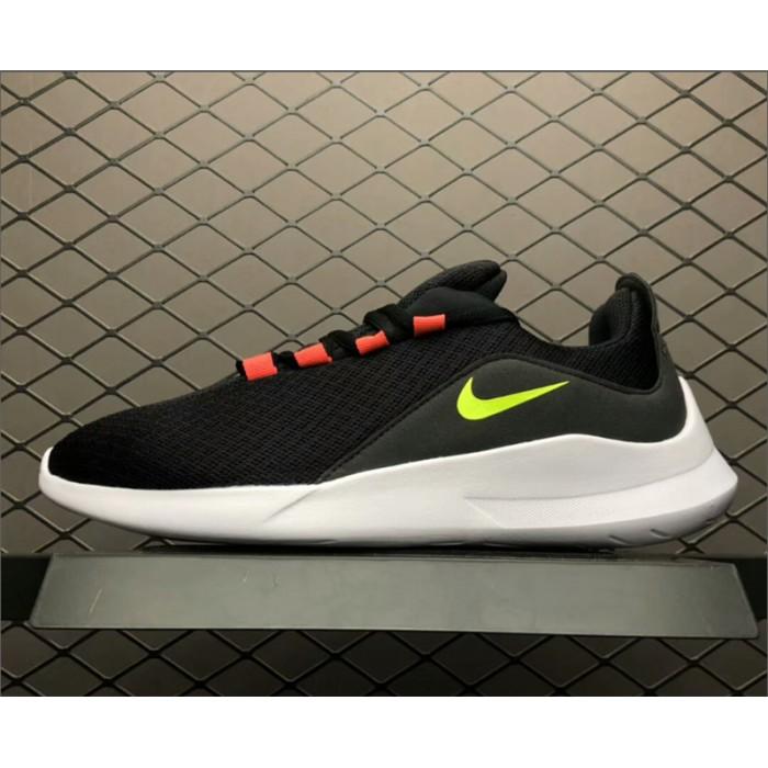 Men's Nike Viale Run Shoes Black Volt-Solar Red-White