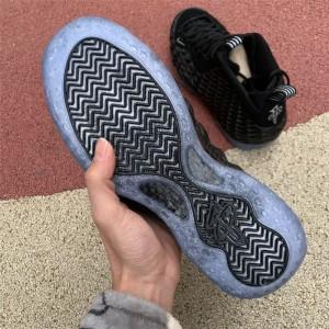 Men's Nike Air Foamposite One Swoosh Black Metallic Silver