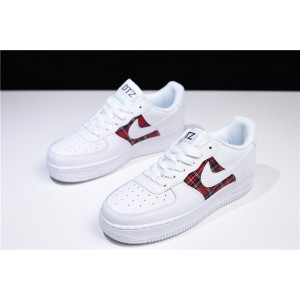 Men's/Women's Nike Air Force 1 07 Low Flannel White Red