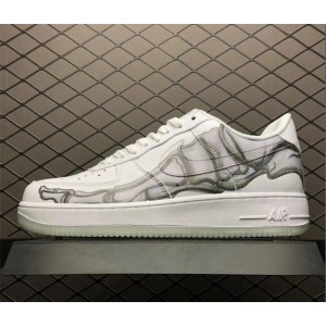 Men's/Women's Nike Air Force 1 07 QS Low Skeleton White