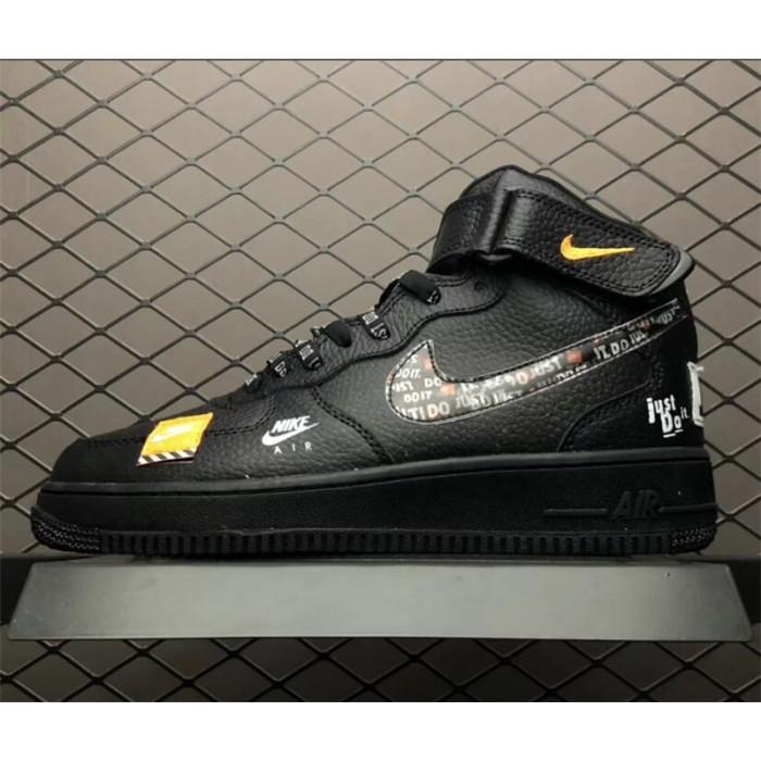 Men's/Women's Nike Air Force 1 AF1 Just Do It Black