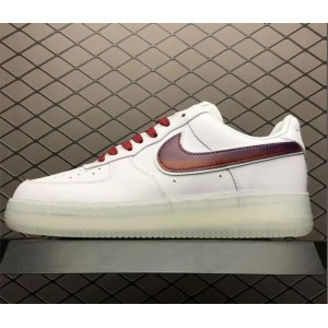 Men's/Women's Nike Air Force 1 Low Swoosh White Red
