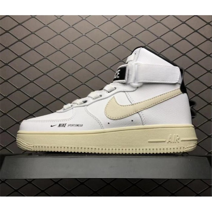 Men's/Women's Nike Air Force 1 Utility White Black Sneakers