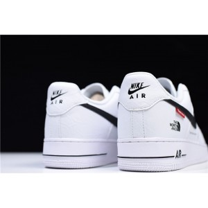 Men's Supreme x The North Face x Nike Air Force 1 Low White Black