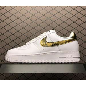 Men's/Women's Nike AF1 Low Retro Ivory Snake AO1635-100