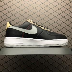 Men's Nike Air Force 1 07 Black Mica Green-Ridgerock