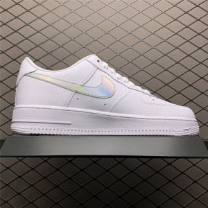 Men's/Women's Nike Air Force 1 Low Iridescent Swoosh White