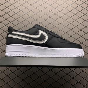 Men's/Women's Nike Air Force 1 Low Reverse Stitch Black White