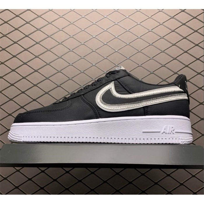 Men's/Women's Nike Air Force 1 Low Reverse Stitch Black White