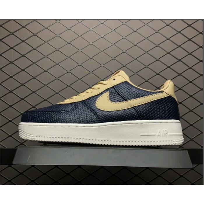 Men's/Women's Nike Air Force 1 Low Snakeskin Dark Blue Khaki