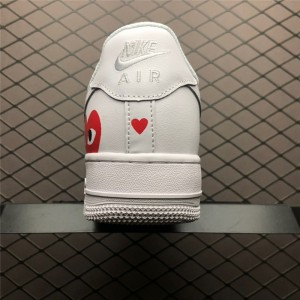 Men's/Women's Nike Air Force 1 07 White Red Casual Shoes