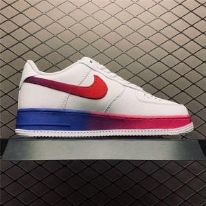 Men's Nike Air Force 107 Low White Red Blue Trainers