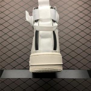 Men's/Women's Nike SF-AF1 Air Force 1 Mid Triple Ivory AA6655-100