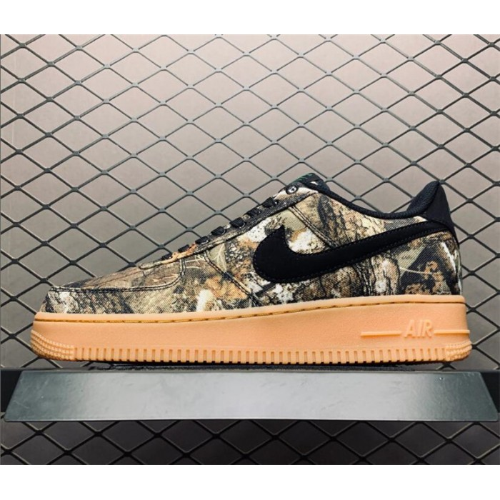 Men's/Women's Realtree x Air Force 1 Low Tan Camo Black Gum Brown
