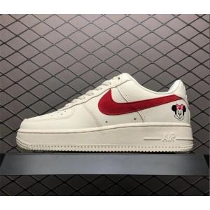 Women's Nike Air Force 1 07 SE PRM White Red AH6827-100