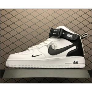 Men's/Women's Nike Air Force 1 07 Mid Utility White Black