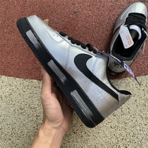 Men's/Women's Nike Air Force 1 07 x ParaNoise Silvery Black