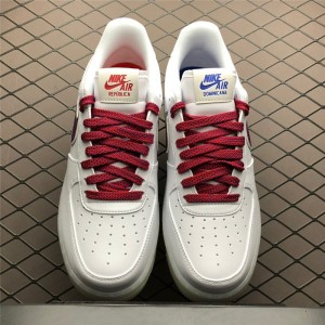 Men's/Women's Nike Air Force 1 De Lo Mio White University Red-Sport Blue