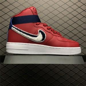 Men's/Women's Nike Air Force 1 High 3D Chenille Swoosh Red White Blue