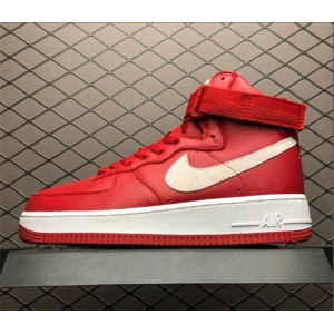 Men's/Women's Nike Air Force 1 High QS Naike Gym Red Summit White