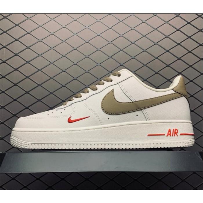 Men's/Women's Nike Air Force 1 Low Premium White Brown In Store