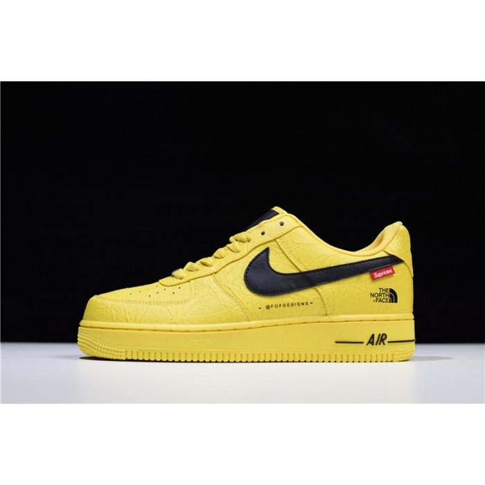 Men's/Women's Supreme x The North Face x Nike Air Force 1 Low Yellow