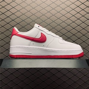 Women's Ladies Nike Air Force 1 Low White Red On Sale