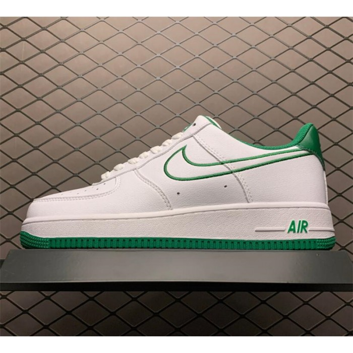 Men's/Women's Latest Nike Air Force 1 07 Low White Green