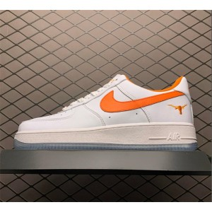 Men's Nike Air Force 1 White Orange Outlet