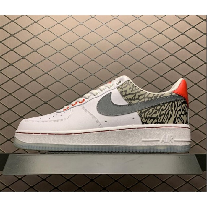 Men's Nike Air Force 107 Low White Sliver