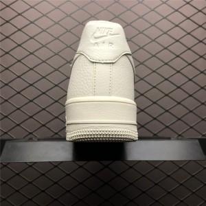 Men's/Women's Nike Air Force 1 07 Low LTHR Emblem Bone