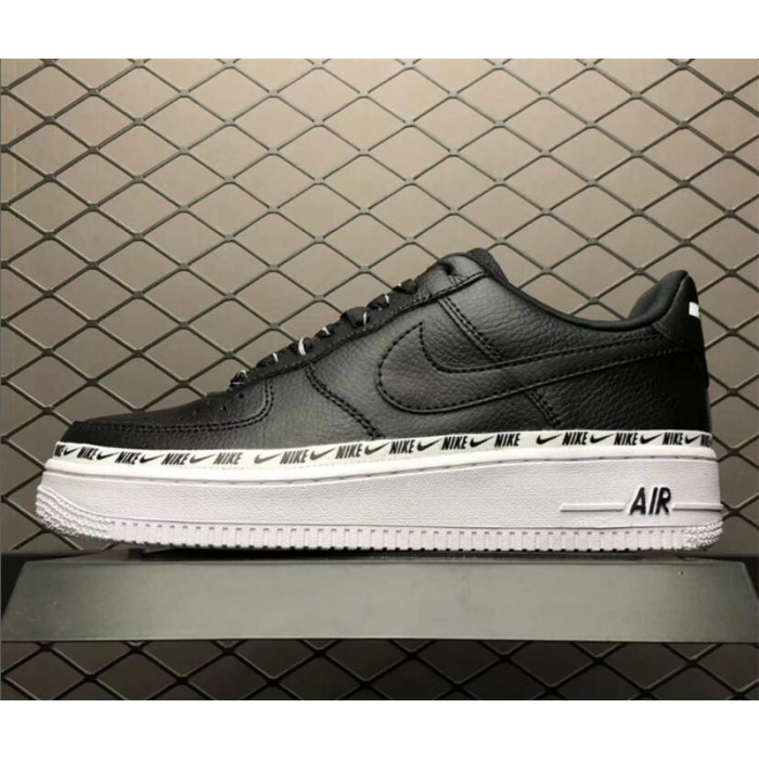 Men's/Women's Nike Air Force 1 07 SE Premium Black White