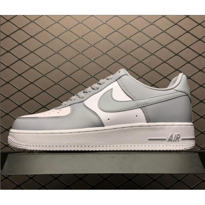 Men's Nike Air Force 1 AF1 Low White Wolf Grey Shoes