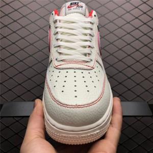 Men's/Women's Nike Air Force 1 Custom Sail Phantom-University Red Sale
