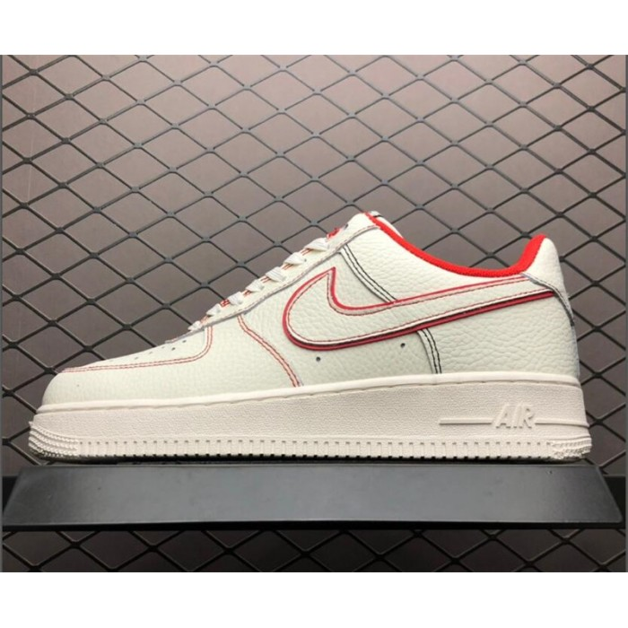 Men's/Women's Nike Air Force 1 Custom Sail Phantom-University Red Sale