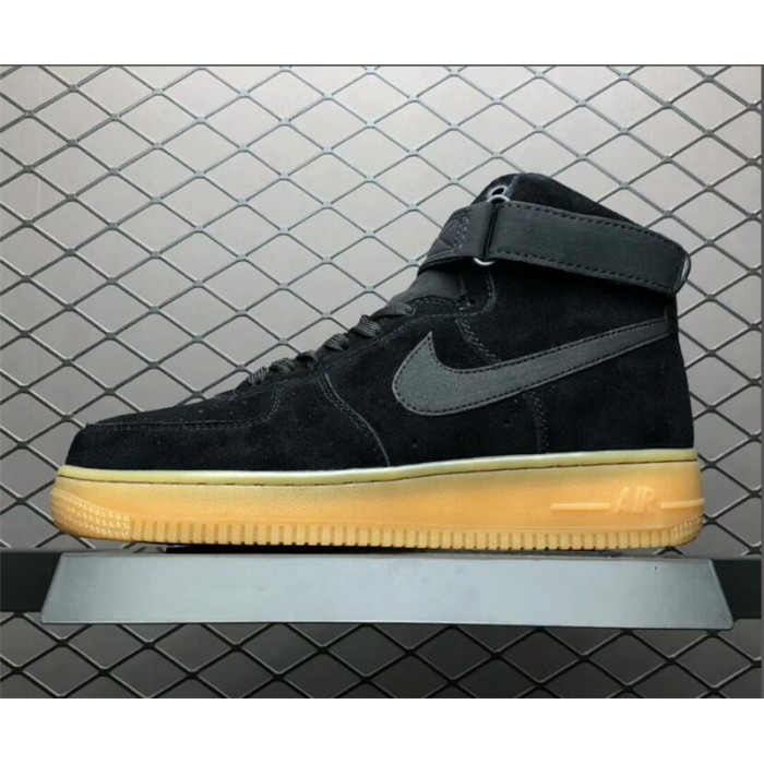 Men's/Women's Nike Air Force 1 High 07 LV8 Suede Black Gum