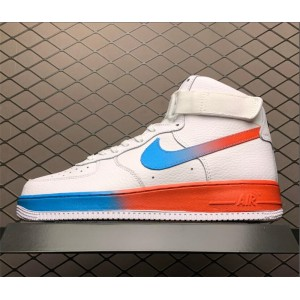 Men's/Women's Nike Air Force 1 High White Blue Fury Black