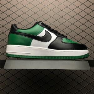Men's Nike Air Force 1 Low Black-White Pine Green Shoes