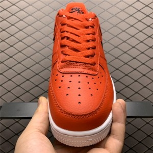 Men's/Women's Nike Air Force 1 Low Bold Red Cut Out Swoosh