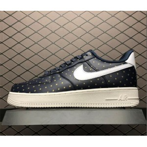 Men's/Women's Nike Air Force 1 Low Dark Blue Gold-White