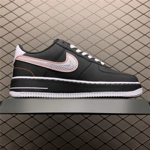 Men's/Women's Nike Air Force 1 Low Exposed Sticthing Black White