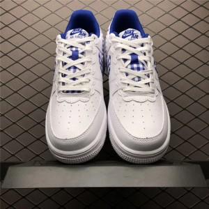 Men's/Women's Nike Air Force 1 Low Gingham White Indigo