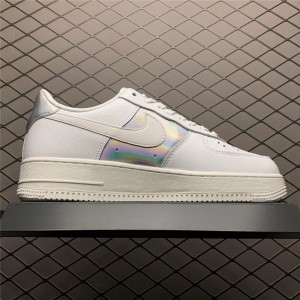 Men's/Women's Nike Air Force 1 Low Iridescent Summit White Silver