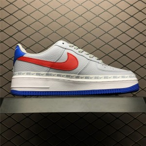 Men's/Women's Nike Air Force 1 Low Overbranding Grey Blue Red Online