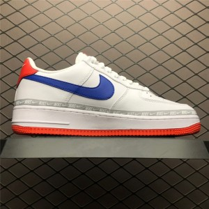 Men's/Women's Nike Air Force 1 Low Overbranding White Red Blue
