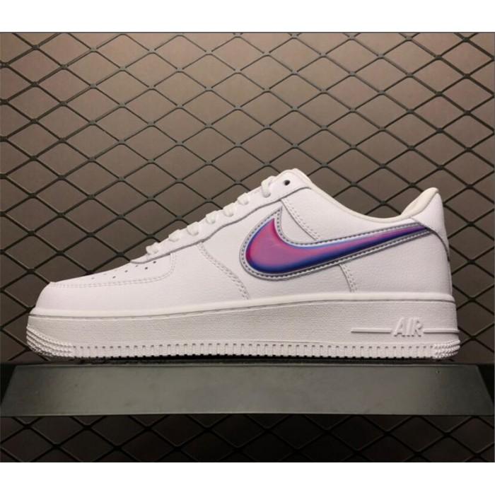 Men's/Women's Nike Air Force 1 Low Oversized Swoosh White Blue